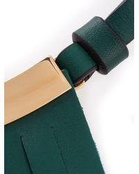Marni   Green Fringe Detail Necklace   Lyst