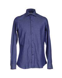 Emanuel Ungaro | Blue Shirt for Men | Lyst