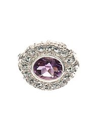 Jade Jagger - Metallic Amethyst, Aquamarine & Gold-Plated Ring - Lyst