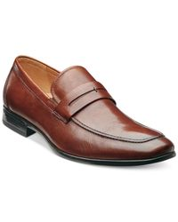 Florsheim - Brown Burbank Apron Toe Penny Loafers for Men - Lyst