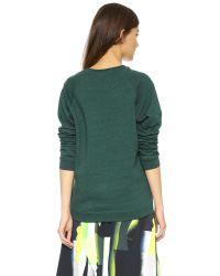 KENZO | Green Printed Sweatshirt | Lyst