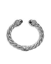 David Yurman | Metallic Cable Classics Bracelet With Diamonds, 10mm | Lyst