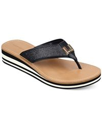 Tommy Hilfiger | Black Roesia Flip Flops | Lyst