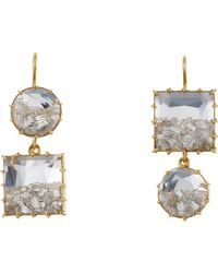 Renee Lewis - Metallic Women's Shake Double-drop Earrings - Lyst