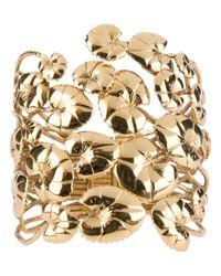 Aurelie Bidermann Metallic Leaf Cuff