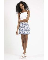 TOPSHOP - Blue Annie Skirt By Motel - Lyst