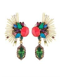 Erickson Beamon - Metallic Telepathic Crystal & Gold-Plated Earrings - Lyst