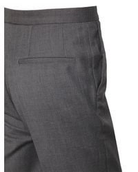Calvin Klein - Gray 17.5cm Bonded Wool Pants for Men - Lyst