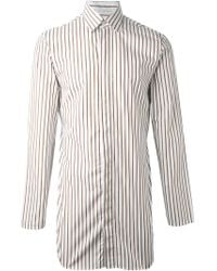 J.W.Anderson | White Long Striped Shirt for Men | Lyst