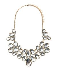 Forever 21 - Gray Faux Gemstone Statement Necklace - Lyst