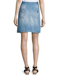 Étoile Isabel Marant - Blue Odelle Button-down Denim Skirt - Lyst