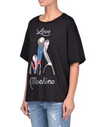 Love Moschino | Black Short Sleeve T-shirts | Lyst