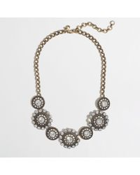 J.Crew - Metallic Factory Crystal Spiral Necklace - Lyst