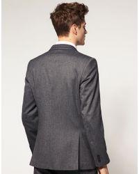 Lambretta   Gray Fashion Fit Tipped Lapel Jacket for Men   Lyst