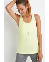 Forever 21 | Yellow Active Mesh-paneled Tank You've Been Added To The Waitlist | Lyst