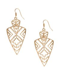 H&M | Metallic Long Earrings | Lyst