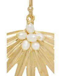 Annette Ferdinandsen - Metallic Small Fan Palm Earrings - Lyst