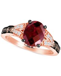 Le Vian - Red Raspberry Rhodolite Garnet (2 Ct. T.w.) And Diamond (1/3 Ct. T.w.) Ring In 14k Rose Gold - Lyst