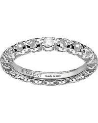 Gucci - Diamantissima 18Ct White-Gold And Diamond Ring - For Women - Lyst