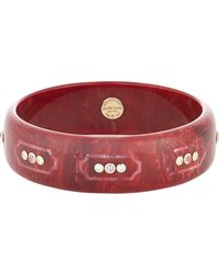Mark Davis | Red Prunella Bangle | Lyst