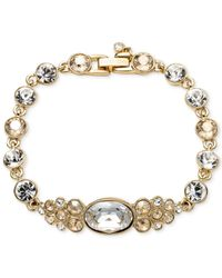 Givenchy | Metallic Gold-tone Crystal Small Flex Bracelet | Lyst