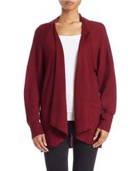 Lord & Taylor | Brown Long-sleeve Open-front Cardigan | Lyst