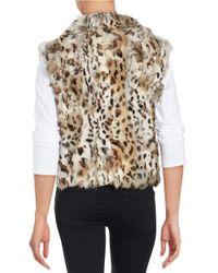 Adrienne Landau | Multicolor Short Rabbit Fur Vest | Lyst