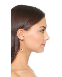 DANNIJO | Metallic Thales Earrings - Clear/gold | Lyst