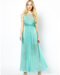 AX Paris | Blue Maxi Dress | Lyst