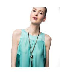 Lulu Frost - Metallic Scarab Tassel Necklace - Lyst