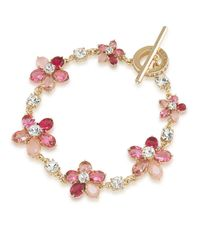 Carolee | Pink Flower Toggle Bracelet | Lyst