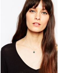 ASOS - Metallic Sterling Silver Traveller Choker Necklace - Lyst