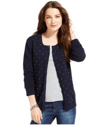 Tommy Hilfiger | Blue French Knot Cardigan | Lyst