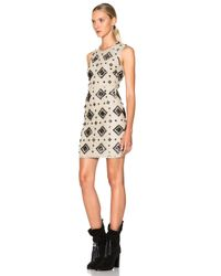 Burberry - Natural Carly Shift Dress With Panel Detail - Lyst