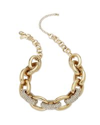 INC International Concepts | Metallic Gold-tone Pave Large Chunky Link Necklace | Lyst
