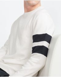 Zara | Natural Sweatshirt for Men | Lyst