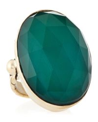 Stephen Dweck - Oval Green Agate Rock Crystal Ring 6 - Lyst