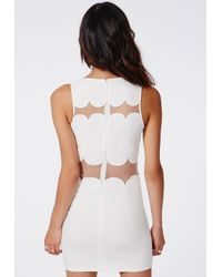 Missguided Sandy Scallop Shift Dress White