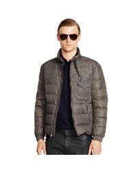 Ralph Lauren Black Label - Gray Recruiter Waxed Down Jacket for Men - Lyst
