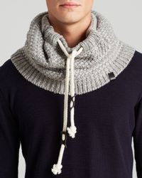 Bickley + Mitchell Gray Basic Knit Snood for men