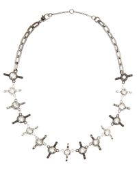 Marc By Marc Jacobs | Metallic Wingnut Crystal-embellished Necklace | Lyst