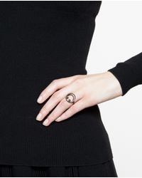 Rosa De La Cruz | Black Smiley 18k Oxidised Gold And Diamond Ring | Lyst