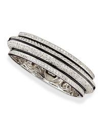 M.c.l  Matthew Campbell Laurenza | Metallic Pave White Zircon Bangle Bracelet | Lyst