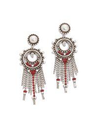 DANNIJO - White Vitula Earrings - Lyst
