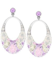 Swarovski | Multicolor Vividness Rhodium-tone Drop Earrings | Lyst