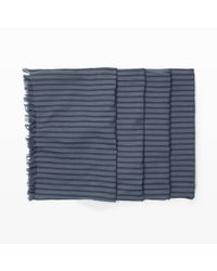 Club Monaco - Blue Yarn-Dyed Scarf for Men - Lyst