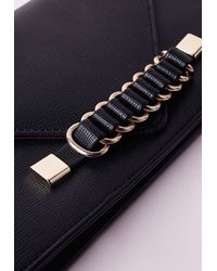 Missguided - Chain Strap Envelope Clutch Black - Lyst