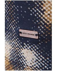 BOSS Orange Blue 'timmoleo'   Cotton Printed T-shirt for men