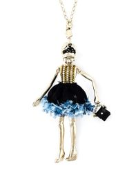 Servane Gaxotte Blue Doll Pendant Necklace