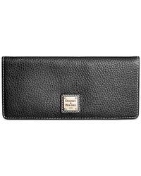 Dooney & Bourke - Black Pebble Slim Wallet - Lyst